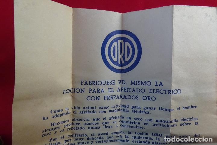 Antigüedades: PREPARADOS PARA EL AFEITADO ELÉCTRICO - ORO - 1/8 DE LITRO - LOCIÓN - NUEVO - - Foto 6 - 76734159