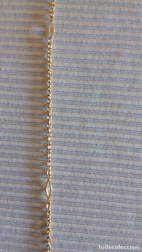 Antigüedades: CADENA PARA GAFAS - COLLAR (Lleva otro cierre para transformar para ese uso baño de oro - ESTRENAR - Foto 2 - 76948997