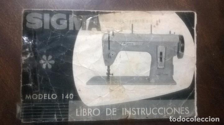 Manual de instrucciones maquina coser sigma mod - Vendido