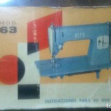 Manual de instrucciones, maquina de coser alfa - Vendido