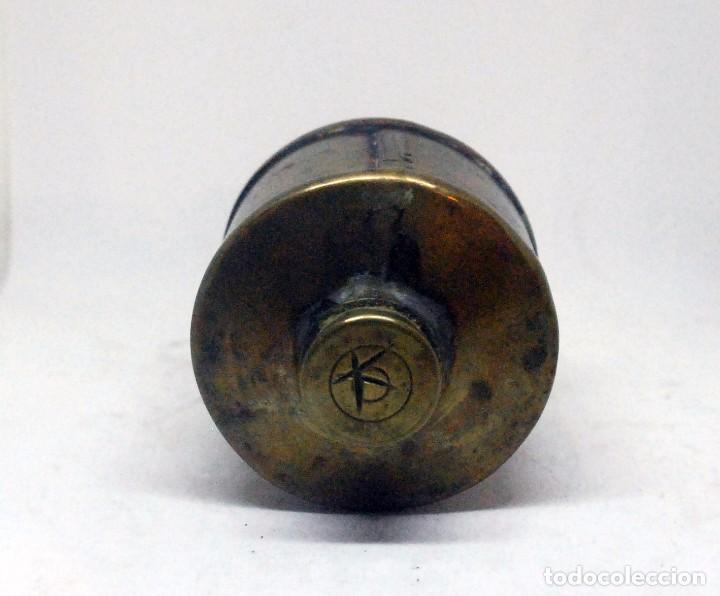 Antigüedades: Antiguo recipiente de latón - Protésico dental - dentista - Foto 2 - 77243789