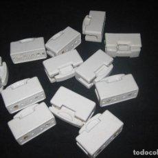 Lote de 12 fusibles de porcelana antiguos