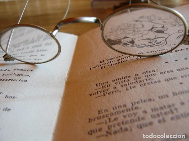 Antigüedades: GAFAS ANTIGUAS TIPO QUEVEDO CON PATILLAS FLEXIBLES -ÒPTICA ANTONIO GARRIGA MANRESA - Foto 4 - 77638909