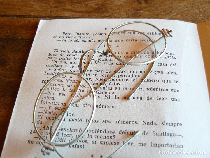 Antigüedades: GAFAS ANTIGUAS TIPO QUEVEDO CON PATILLAS FLEXIBLES -ÒPTICA ANTONIO GARRIGA MANRESA - Foto 6 - 77638909