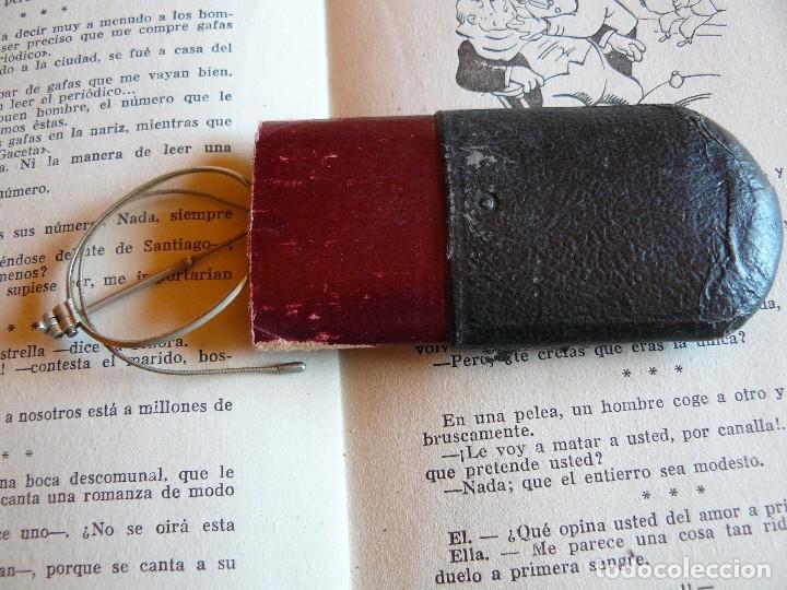 Antigüedades: GAFAS ANTIGUAS TIPO QUEVEDO CON PATILLAS FLEXIBLES -ÒPTICA ANTONIO GARRIGA MANRESA - Foto 7 - 77638909