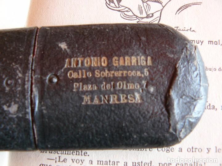 Antigüedades: GAFAS ANTIGUAS TIPO QUEVEDO CON PATILLAS FLEXIBLES -ÒPTICA ANTONIO GARRIGA MANRESA - Foto 8 - 77638909