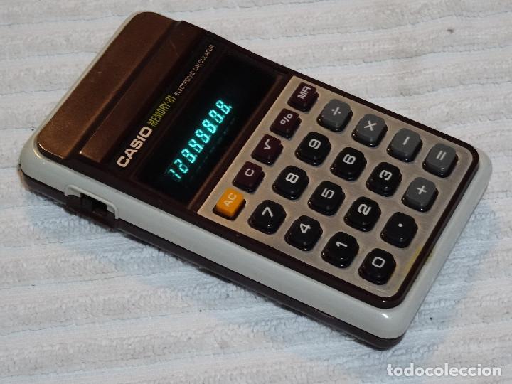 Antigüedades: calculadora CASIO Memory 81 Calculator Electronic Led verde green Vintage - Foto 3 - 77647681