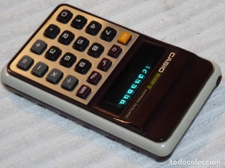 Antigüedades: calculadora CASIO Memory 81 Calculator Electronic Led verde green Vintage - Foto 4 - 77647681