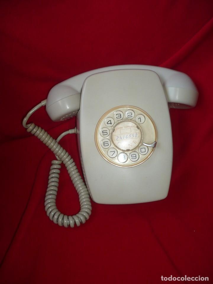 TELÉFONO DE PARED MODELO HERALDO, COLOR GRIS, CTNE (Antigüedades - Técnicas - Teléfonos Antiguos)