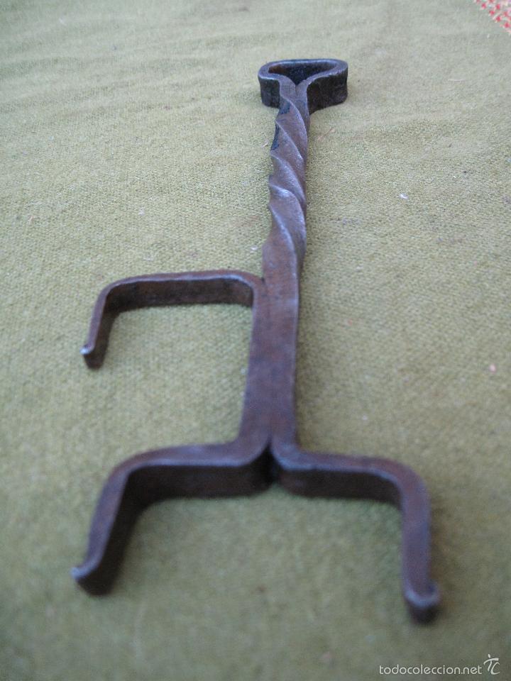 Antigüedades: PIEZA ANTIGUA EN HIERRO FORJADO. - FORJA - - Foto 3 - 210268675