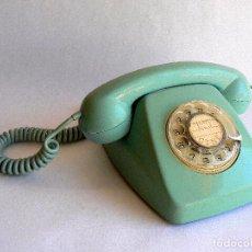 Teléfonos: TELEFONO HERALDO DE TELEFONICA ESPAÑA CTNE AÑOS 70 COLOR AZUL VERDE LIMPIO FUNCIONA. Lote 77833801