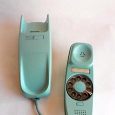 Telefones: TELEFONO VINTAGE DE CTNE MODELO GONDOLA DE PARED AZUL CLARO AÑOS 70 CITESA. Lote 77834637
