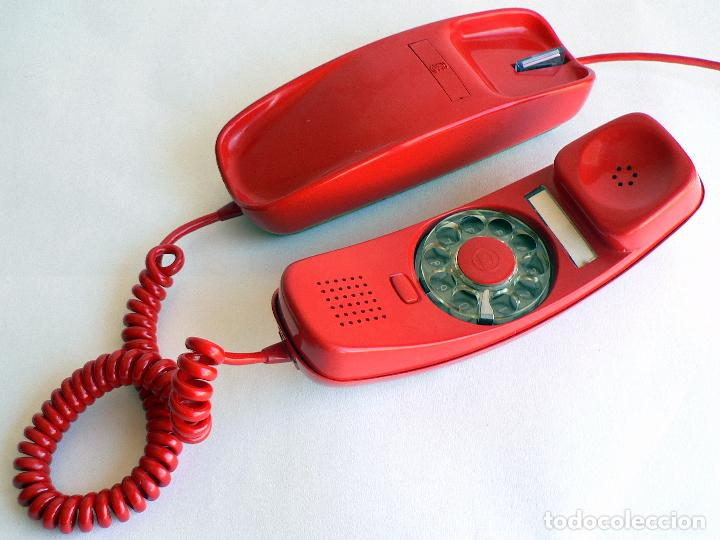 Teléfonos: TELEFONO VINTAGE DE CTNE MODELO GONDOLA COLOR ROJO AÑOS 70 CITESA. - Foto 2 - 77835181