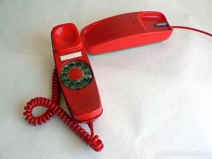 Teléfonos: TELEFONO VINTAGE DE CTNE MODELO GONDOLA COLOR ROJO AÑOS 70 CITESA. - Foto 3 - 77835181