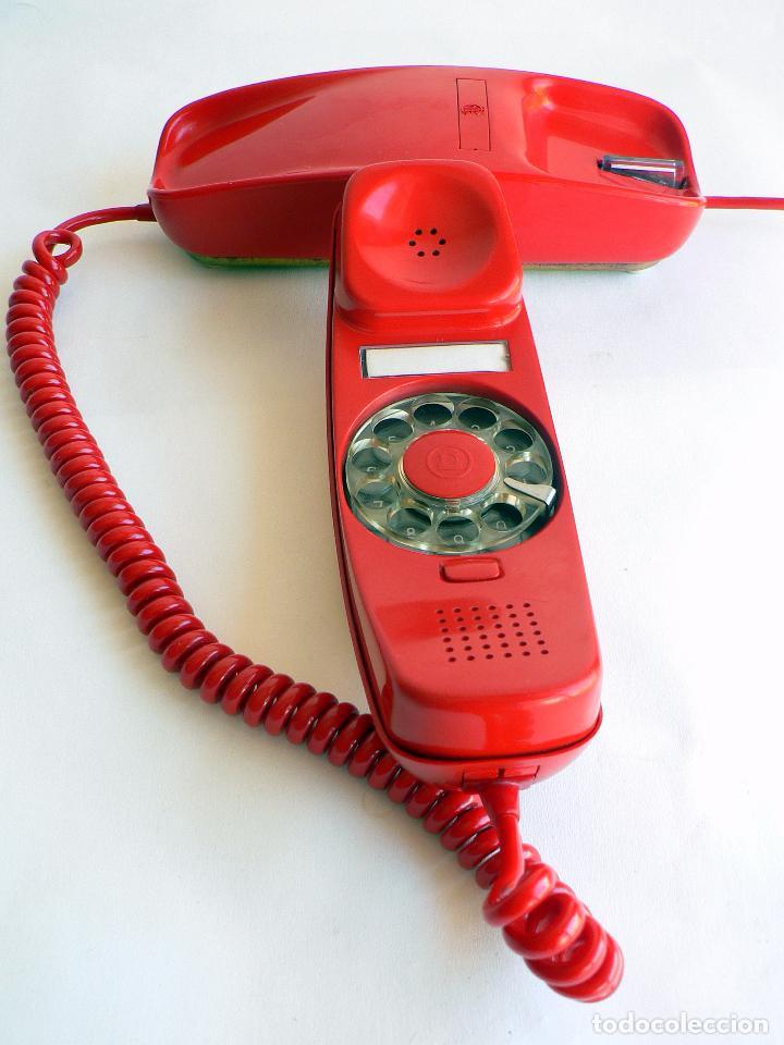 Teléfonos: TELEFONO VINTAGE DE CTNE MODELO GONDOLA COLOR ROJO AÑOS 70 CITESA. - Foto 4 - 77835181