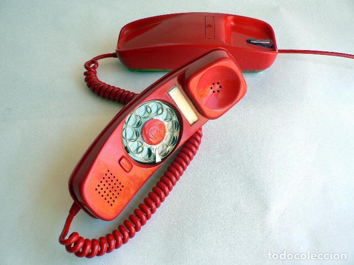 Teléfonos: TELEFONO VINTAGE DE CTNE MODELO GONDOLA COLOR ROJO AÑOS 70 CITESA. - Foto 5 - 77835181