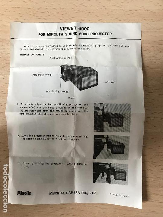 Antigüedades: Minolta Sound Projector 6000 Super 8 Projector - Foto 2 - 77872737