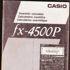 Antigüedades: MANUAL DEL USUARIO FX-4500P CASIO. Lote 77916345