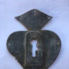 Antigüedades: BOCALLAVE- METAL/RECORTADO.- (FINALES DEL SIGLO XIX). Lote 78024863