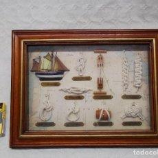 Antigüedades: PRECIOSO CUADRO DE NUDOS MARINEROS. Lote 78066373