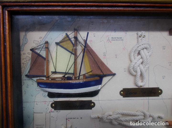 Antigüedades: PRECIOSO CUADRO DE NUDOS MARINEROS - Foto 7 - 78066373