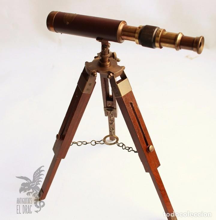 CATALEJO TELESCOPIO CON TRÍPODE (Antiques - Technical - Optical Instruments - Old Spyglasses)