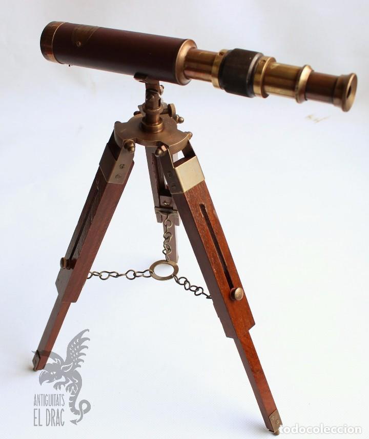 Antiques: CATALEJO TELESCOPIO CON TRÍPODE - Foto 3 - 159926681