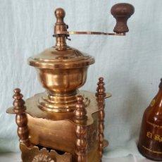 Antigüedades: MARAVILLOSO MOLINILLO DE CAFÉ EN BRONCE. 2 KG DE PESO. GRAN PIEZA DE COLECCIÓN:. Lote 78427497