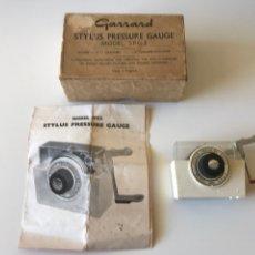 Antigüedades: BALANZA ANTIGUA Y RARA. GARRARD STYLUS PRESSURE GAUGE. MADE IN ENGLAND. Lote 78528935