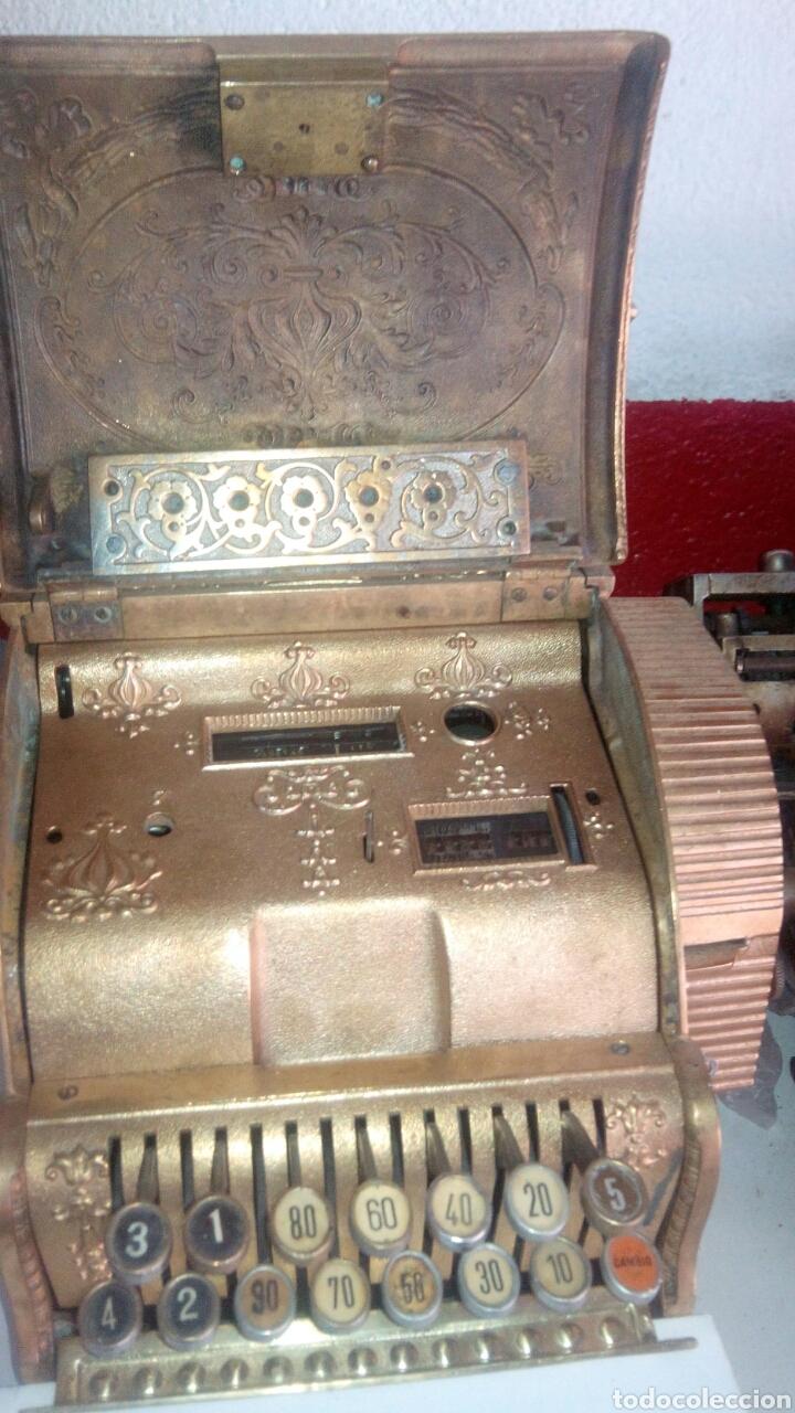 Antigüedades: Registradora National 1910 de bronce - Foto 3 - 66839226