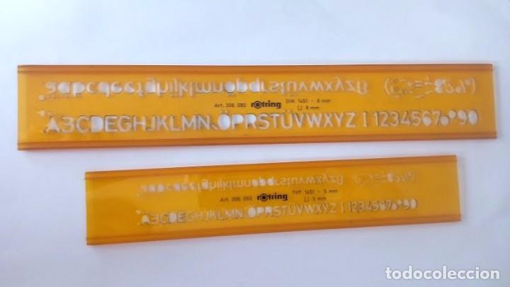 2 Plantillas De Rotular Letras Y Numeros Rotri Comprar