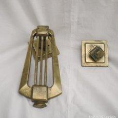 Antigüedades: PICA PORTE DE BRONCE PRINCIPIO DEL SIGLO 20. Lote 78792601