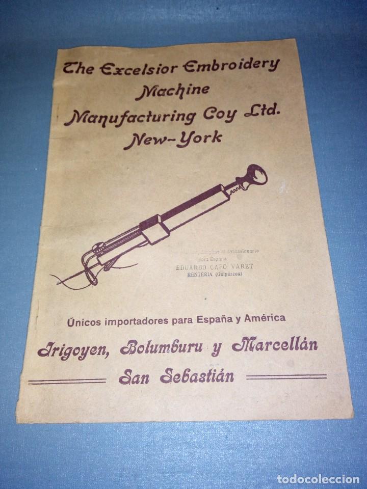 Antigüedades: 918- ANTIGUA MAQUINA/SET DE TEJER + 15 PATRONES ( THE EXCELSIOR MACHINE) - AÑO 1919 ( RARA) - Foto 6 - 78822381