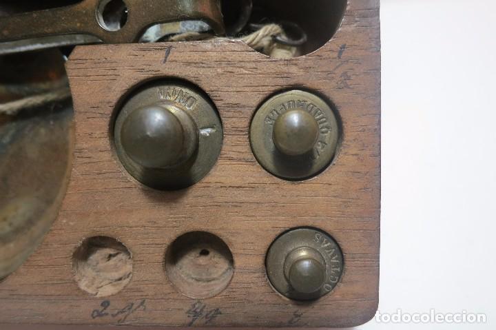 Antigüedades: caja de balanza para el peso de diamantes - Foto 2 - 78910853
