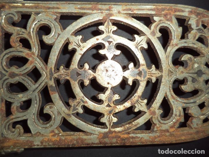 Antigüedades: BASE PARA PLANCHA ANTIGA - Rosaceas - Arte Nova 02 - Foto 2 - 78937241