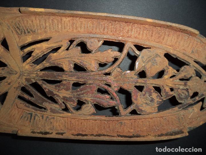 Antigüedades: BASE PARA PLANCHA ANTIGA - Ramos e flores - Arte Nova 04 - Foto 4 - 78937481