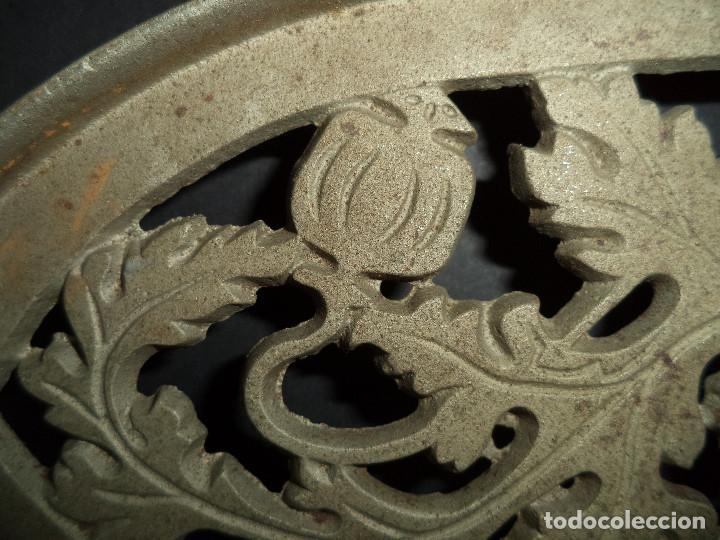 Antigüedades: BASE PARA PLANCHA ANTIGA - Ramos e fruta - Arte Nova 07 - Foto 2 - 78937801