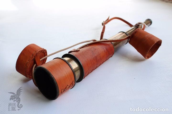 Antigüedades: CATALEJO CON FUNDA DE PIEL - Foto 2 - 79008209