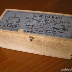 Antigüedades: ANTIGUA CAJA DE MADERA A.W. FABER CASTELL BLEISTIFT - FABRIK STEIN BEI NÜRNBERG.. Lote 79033029