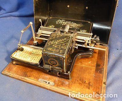 PRECIOSA ANTIGUA UNICA MAQUINA ESCRIBIR AEG MIGNON NUMERO 2 PRECIOSA OBRA ARTE MUSEO PVP 1600 € (Antigüedades - Técnicas - Máquinas de Escribir Antiguas - Mignon)