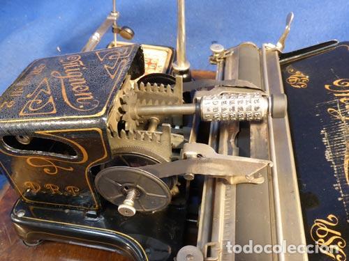 Antigüedades: PRECIOSA ANTIGUA UNICA MAQUINA ESCRIBIR AEG MIGNON NUMERO 2 PRECIOSA OBRA ARTE MUSEO PVP 1600 € - Foto 8 - 79077241