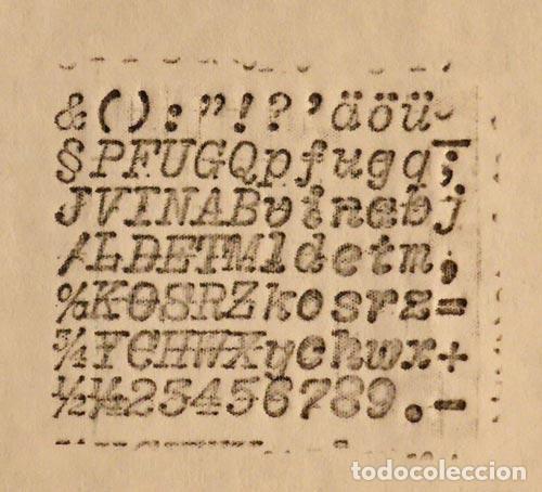 Antigüedades: PRECIOSA ANTIGUA UNICA MAQUINA ESCRIBIR AEG MIGNON NUMERO 2 PRECIOSA OBRA ARTE MUSEO PVP 1600 € - Foto 9 - 79077241