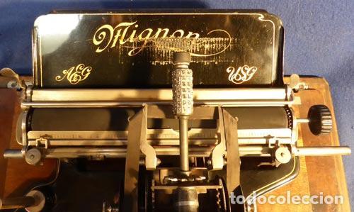 Antigüedades: PRECIOSA ANTIGUA UNICA MAQUINA ESCRIBIR AEG MIGNON NUMERO 2 PRECIOSA OBRA ARTE MUSEO PVP 1600 € - Foto 11 - 79077241