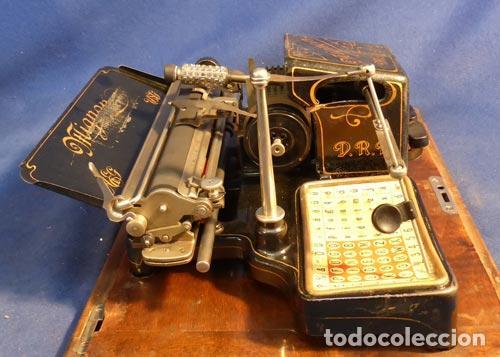Antigüedades: PRECIOSA ANTIGUA UNICA MAQUINA ESCRIBIR AEG MIGNON NUMERO 2 PRECIOSA OBRA ARTE MUSEO PVP 1600 € - Foto 17 - 79077241