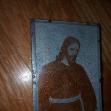 Antigüedades: ORIGINAL CLICHE PLANCHA IMPRENTA NEGATIVO NUESTRO PADRE JESUS DEL SOBERANO PODER SEVILLA. Lote 79076305
