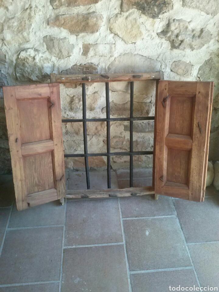 Antigüedades: Bonita antigua ventana con reja de forja. Bien restaurada - Foto 3 - 79078730