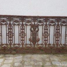 Antigüedades: REJA DE BALCÓN DE FUNDIDO MUY ANTIGUO. Lote 79097589
