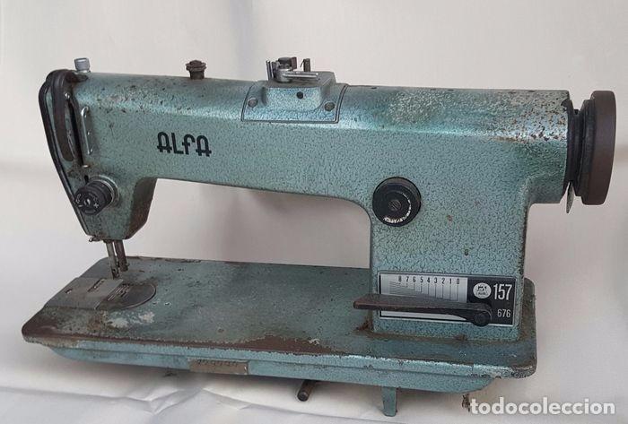 Maquina de coser alfa 157 676 industrial - Vendido en