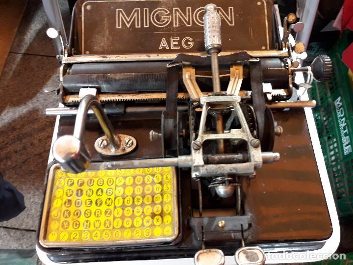 ANTIGUA MAQUINA DE ESCRIBIR ALEMANA AÑOS 10/20 MARCA AEG MIGNON (Antigüedades - Técnicas - Máquinas de Escribir Antiguas - Mignon)