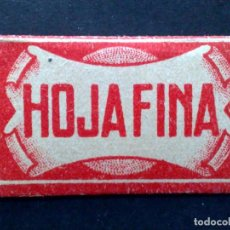 Antigüedades: HOJA DE AFEITAR ANTIGUA-HOJAFINA 0,20 LA HOJA DE M.S. ZALDIVAR-MALAGA-VINTAGE. Lote 79195665